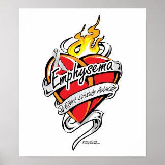 Emphysema Tattoo Heart Poster