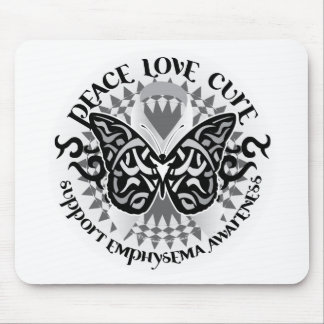Emphysema Tribal Butterfly Mouse Pad