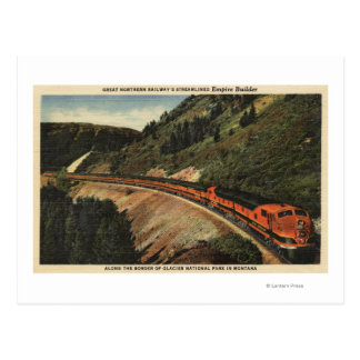 Empire Builder Train Postcards