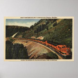 Empire Builder Train Print