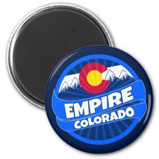 Empire Colorado flag burst round magnet