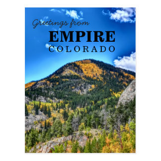 Empire Colorado greetings postcard