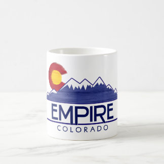 Empire Colorado wood mountains coffee mug cup