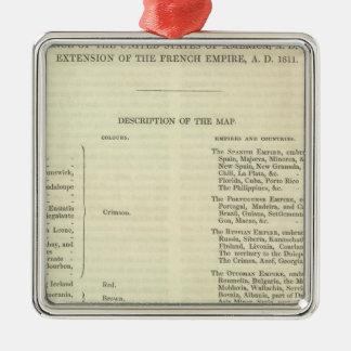 Empire of Napoleon Bonaparte 1811 AD 2 Christmas Ornament
