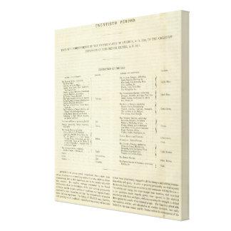 Empire of Napoleon Bonaparte 1811 AD Canvas Print