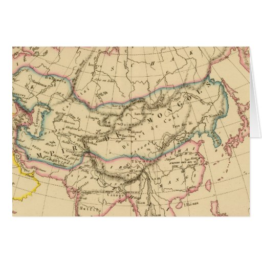 Empire of the Mongols Greeting Card