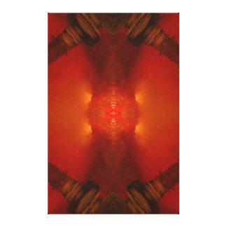 """""""Empire Quake Red"""" (Portrait dimensions) Canvas Print"""