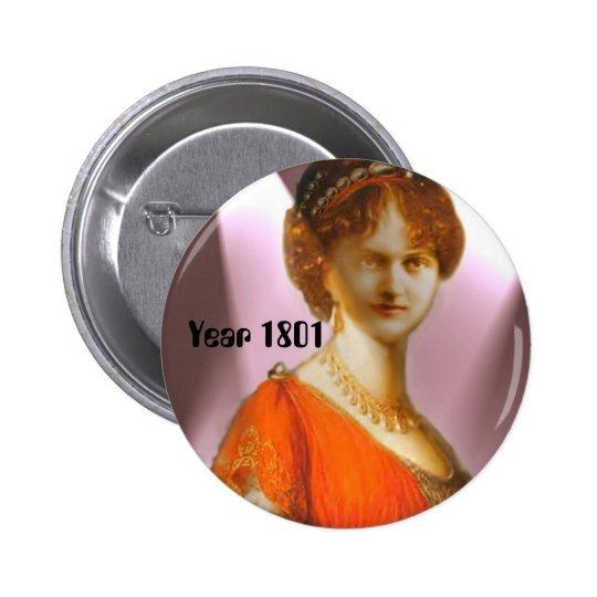 Empire/Regency, Year 1801 Fashion Pinback Button