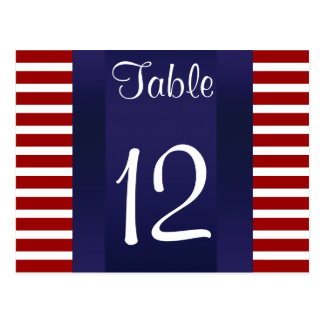 Empire State Building 02 Red White 111 Table Numbe Postcard