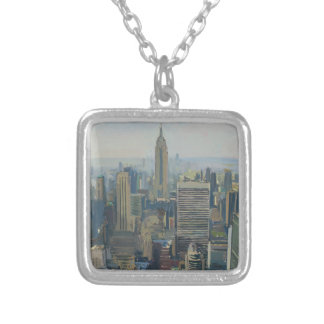 Empire State Building 2012 Silver Plated Necklace