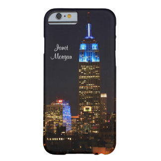 Empire State Building, 30 Rock in blue for Autism Barely There iPhone 6 Case
