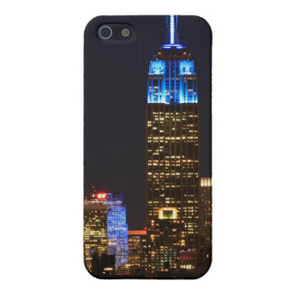Empire State Building, 30 Rock in blue for Autism iPhone SE/5/5s Case