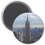 empire state building 3 inch round magnet