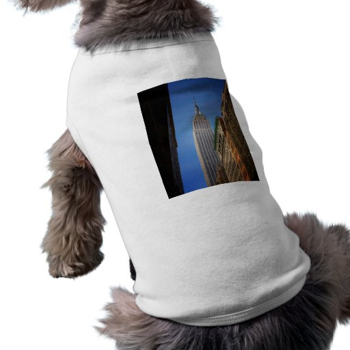 Empire State Building Against The Sky, NYC Dog Tee Shirt