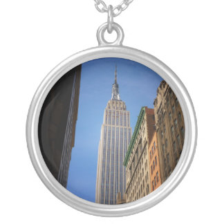 Empire State Building Against The Sky, NYC Silver Plated Necklace