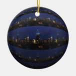Empire State Building all in Blue, NYC Skyline 03 Christmas Tree Ornament