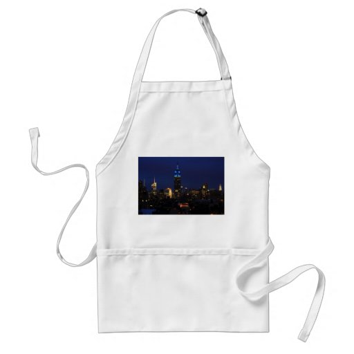 Empire State Building all in Blue, NYC Skyline Apron
