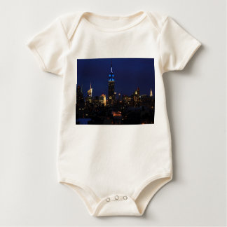 Empire State Building all in Blue, NYC Skyline Baby Bodysuit
