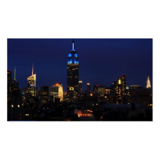 Empire State Building all in Blue, NYC Skyline Business Card Templates