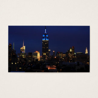 Empire State Building all in Blue, NYC Skyline Business Card