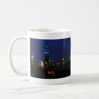Empire State Building all in Blue, NYC Skyline Coffee Mug