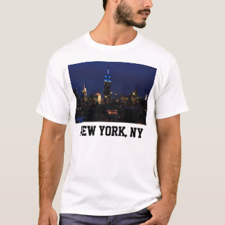 Empire State Building all in Blue, NYC Skyline T-Shirt