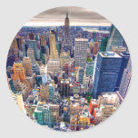 Empire State Building and Midtown Manhattan Classic Round Sticker