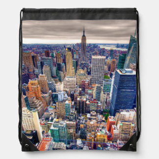 Empire State Building and Midtown Manhattan Drawstring Bag