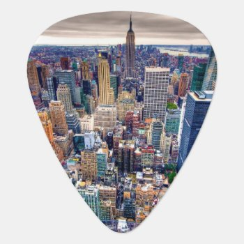 Empire State Building And Midtown Manhattan Guitar Pick by iconicnewyork at Zazzle