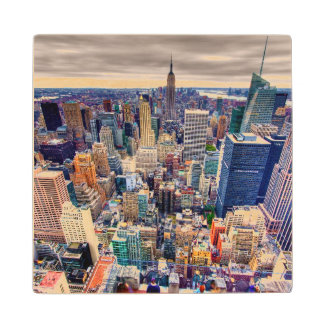 Empire State Building and Midtown Manhattan Maple Wood Coaster