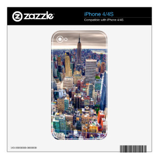 Empire State Building and Midtown Manhattan Skin For iPhone 4S