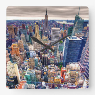 Empire State Building and Midtown Manhattan Square Wall Clock