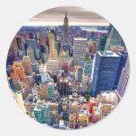 Empire State Building and Midtown Manhattan Classic Round Sticker