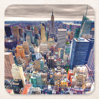 Empire State Building and Midtown Manhattan Square Paper Coaster