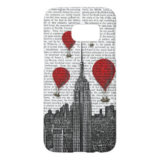 Empire State Building and Red Hot Air Balloons Samsung Galaxy S7 Case