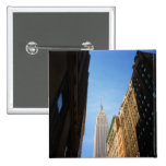 Empire State Building And Shadows, New York City Buttons