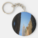 Empire State Building And Shadows, New York City Key Chain