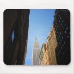 Empire State Building And Shadows, New York City Mouse Pads
