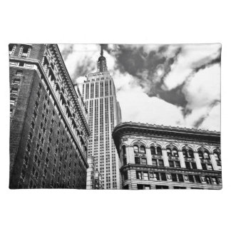 Empire State Building and Skyscrapers Cloth Placemat
