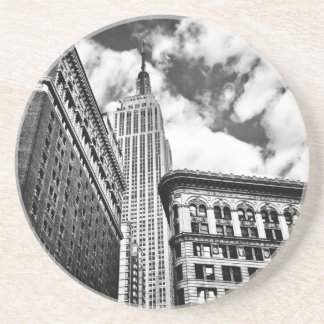 Empire State Building and Skyscrapers Drink Coaster
