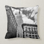 Empire State Building and Skyscrapers Pillow