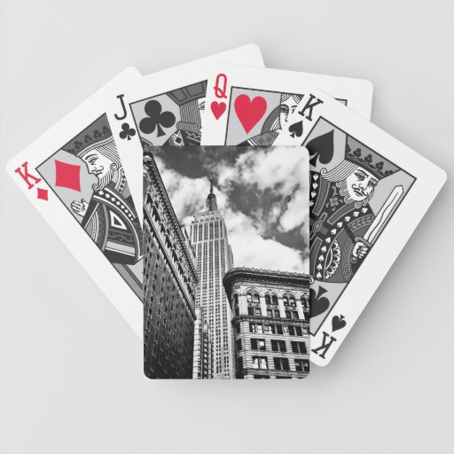 Empire State Building and Skyscrapers Bicycle Playing Cards