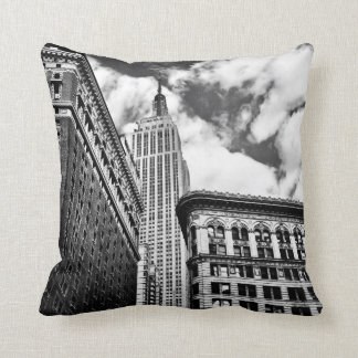 Empire State Building and Skyscrapers Throw Pillow