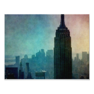 Empire State Building at colorful dusk Custom Announcement