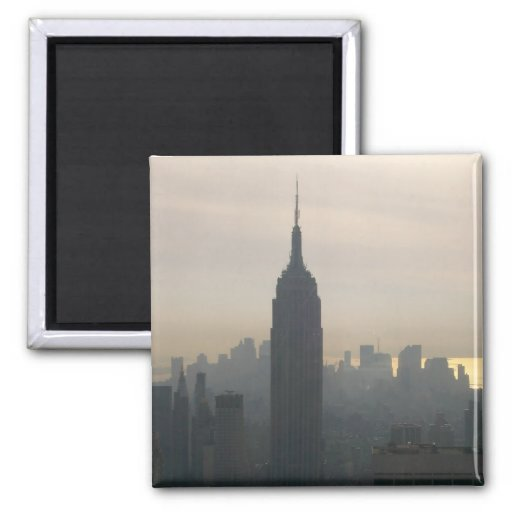 Empire State Building at dusk 2 Inch Square Magnet