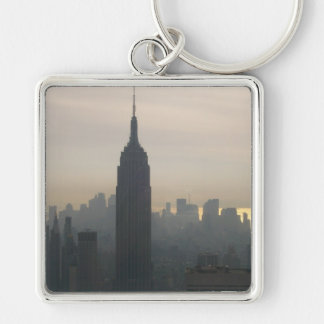 Empire State Building at dusk Keychain