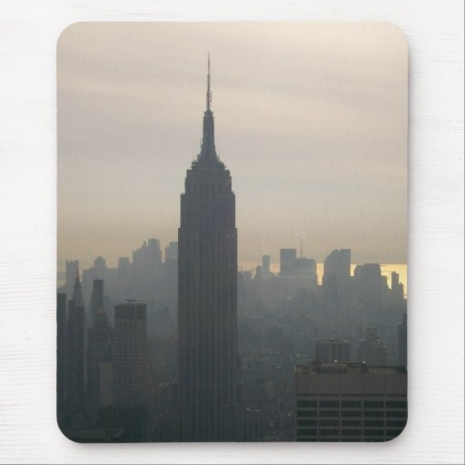 Empire State Building at dusk Mouse Pad
