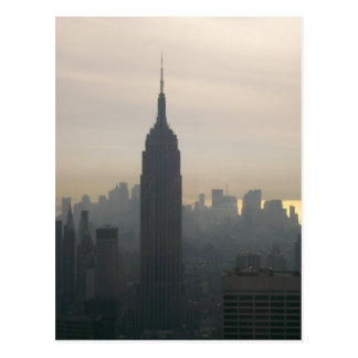 Empire State Building at dusk Postcard