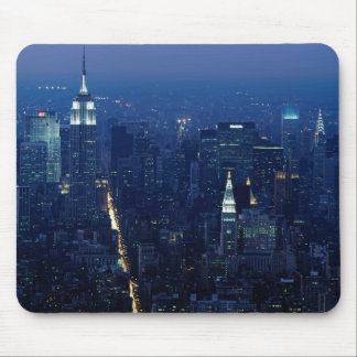 Empire State Building at Night, New York City Mousepads