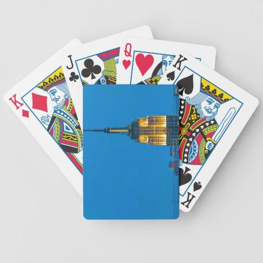 Empire State Building at Sunset Bicycle Playing Cards
